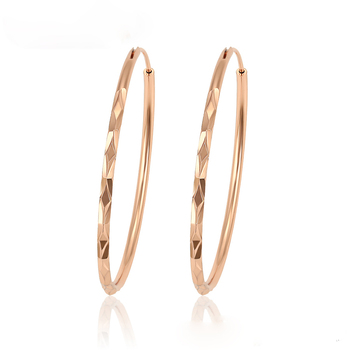 98616  xuping fashion wholesale rose gold plated hoop earring  jewelry