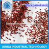 Dark red color Fe2 O3 29.5% garnet minerals used for water jet marble cutting machine