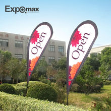 outdoor customized trade show teardrop flying banner with water base
