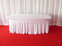 6FT rectangular/oblong spandex table cloth/cover