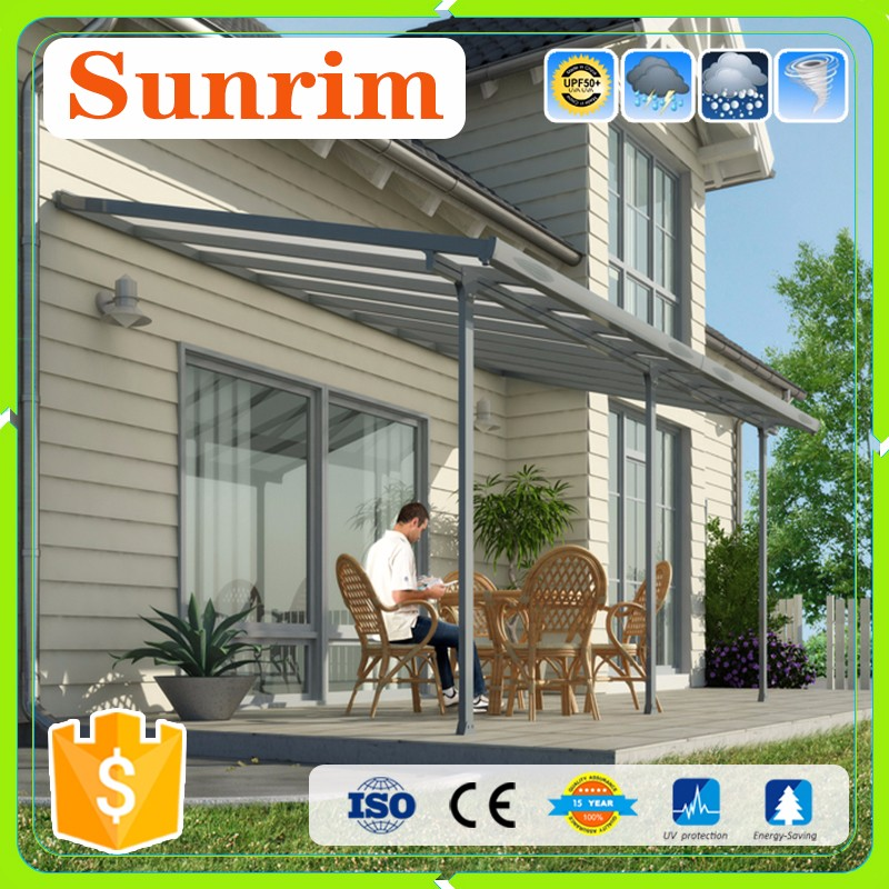 Luxury Morden UV Protection Sliding Sun Rain Metal Window Door Awnings Canopy