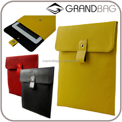 simple genuine leather envelope tablet bag , custom leather case for ipad