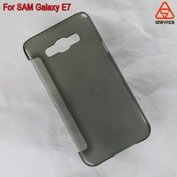 New arrival fashional leather cover flip case for Samsung Galaxy E700F, Smooth clear case for Galaxy E7000