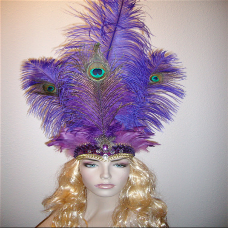 Wholesale Feather Headpiece Carnival Indian Feather Hair Accessories