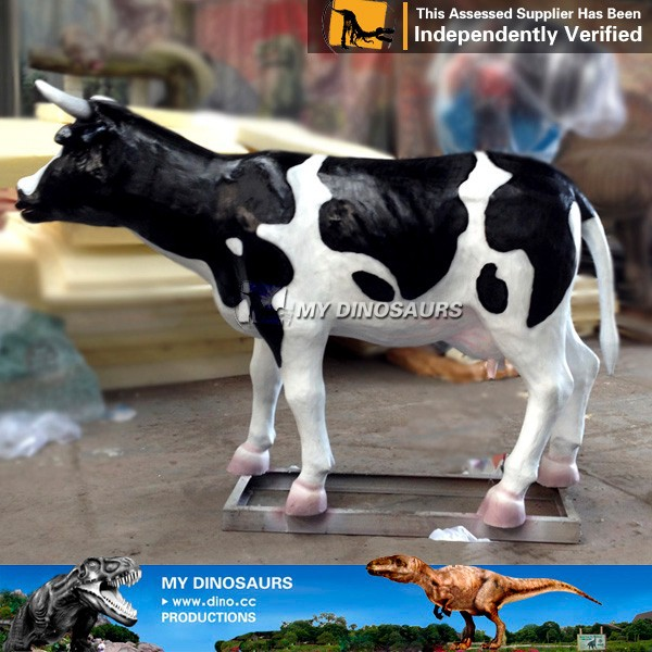 My-dino animal figurines cartoon animal farm fiberglass cow animal wanted