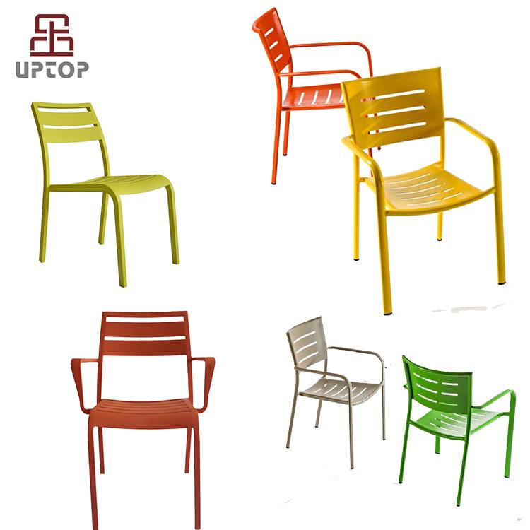 Metal fermob restaurante silla recubierto de polvo de aluminio ...