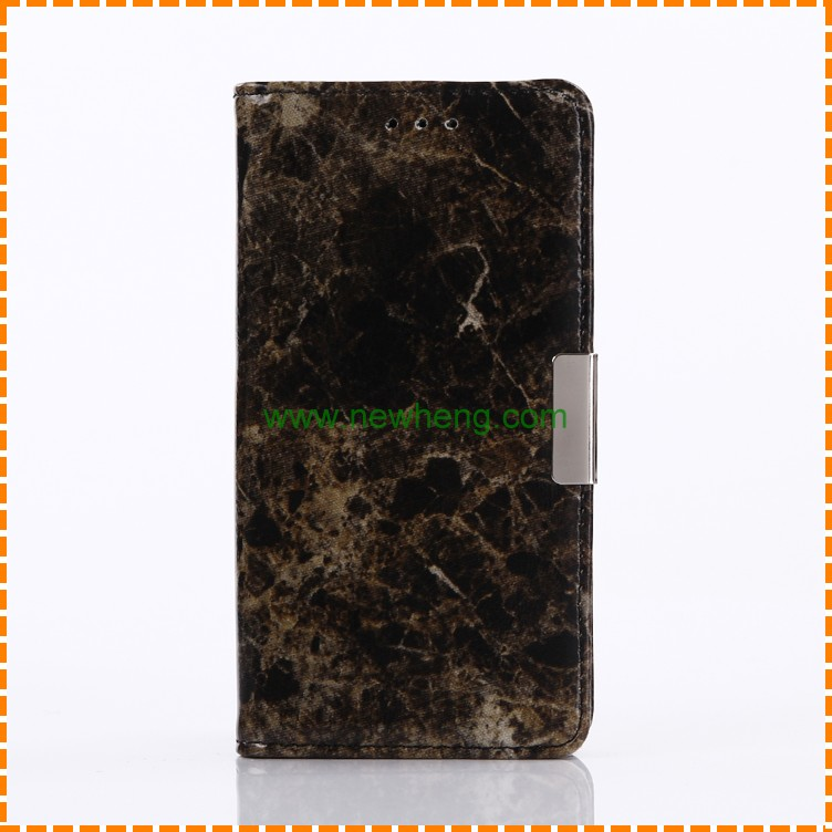 Wholesale Marble line Stand Wallet pu leather +tpu flip case for Sony Xperia XZ