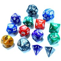 cheap plastic colorful polyhedral dice