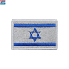 Direct factory sale high quality cheaper Heat Pressing Embroidery Badge for Isreal flag custom logo Embroidered Patch on clothes