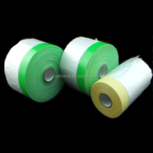disposable plastic HDPE masking film with Japan tape for over spraying protect