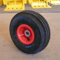flat free tire 3.50-4 wheel barrow wheel/polyurethane rubber wheels
