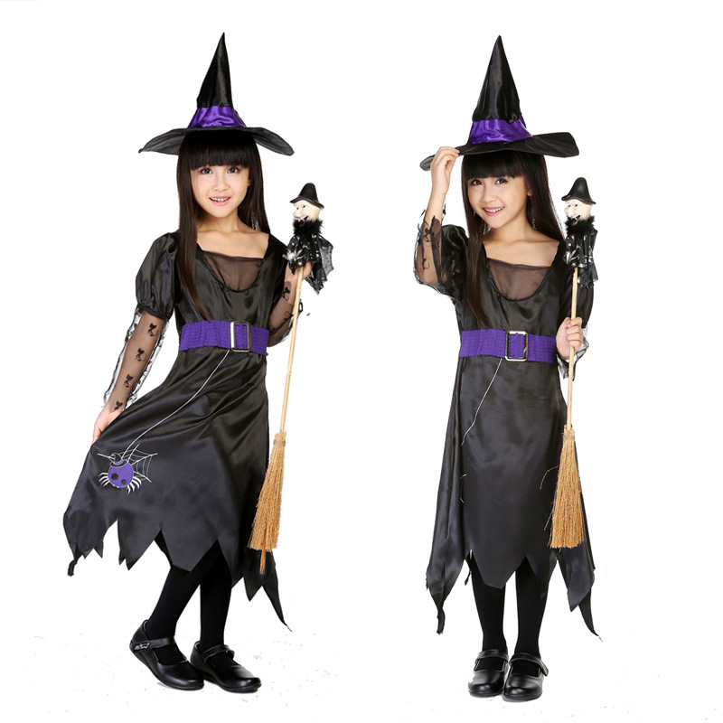 New Arrival Classical Halloween Masquerade Kidu0027s Witch Cosplay Costumes Black Chiffon Mesh Witch Lovely Performance H15632  sc 1 st  Shopping Guide - Alibaba & Cheap Witch Kids Halloween Costumes find Witch Kids Halloween ...