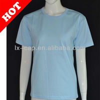 200g 100% cotton T-shirt on hand promotion(Sky blue)
