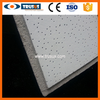 Canton Fair Soundproof Light Weight Good Decorate Effect Sound Absorption Mineral Fiber Boards