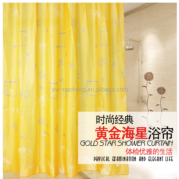 2016 color changing translucent nylon shower curtain