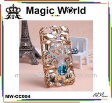 bling 3d octopus shaped crystal phone case for iphone 5