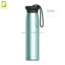 High quality hot 2017 sport 304 stainless steel water bottle brand names with custom private label