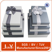 Popular style fancy wedding invitation paper gift box packaging