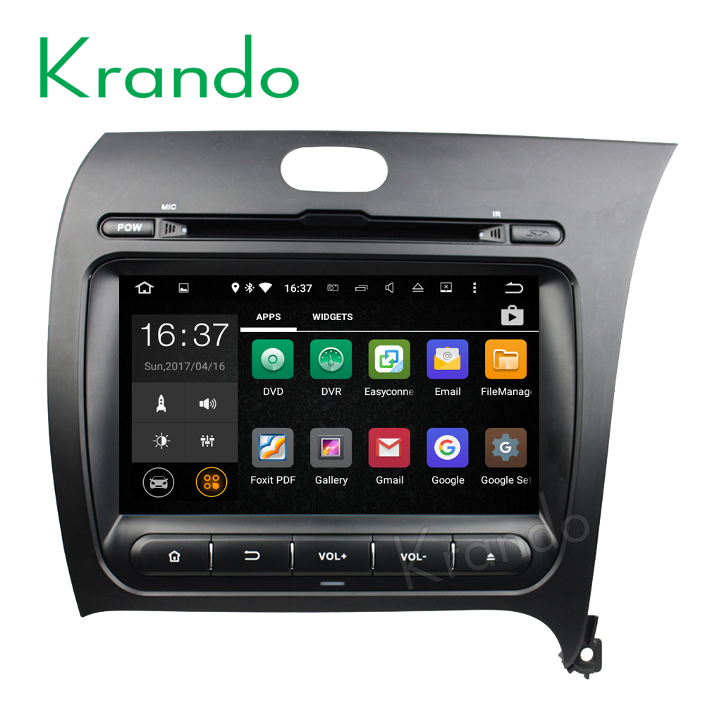 "Krando Android 7.1 8"" car multimedia navigation system for kia k3 Cerato Forte 2013+ car dvd gps radio system 2G+16G KD-KU813R"