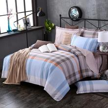 Light Color bed sheet 100% printing cotton fabric polyester King Size Gray And Blue home textile Bedding Comforter Sets Luxury