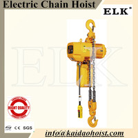 ELK 5 ton electric chain hoist with electric trolley kito crane hoist