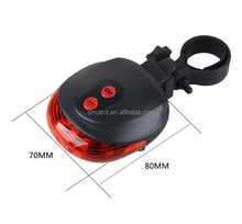 Mountain Bicycle 5 LED 2 Laser 9 modes LED Light Bicycle Laser Beam Rear Tail Light
