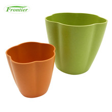 Low Price Garden Decoration Bamboo Fiber Flower Pots For Home Decor