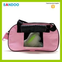 2016 China supplier latest product small dog pink cute travel tote pet bag