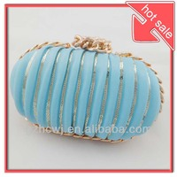2013 new fashion style blue evening bag,party bag,clutch bag with high quality PU