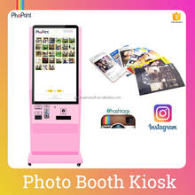 Touch Screen Photo Booth/Interactive Social Media Photo Printing Booth/Advertising Equipment