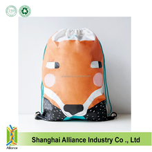 Custom dog face cute drawstring backpack with cord ALD1195