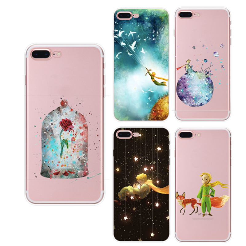 Customzie OEM UV printing fashion little prince pattern clear soft tpu phone case cover for iphone 5 5s 6 6s 7 plus