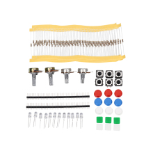 Universal Parts Resistors LEDs Potentiometers Button Cap Electronics component Shenzhen package Kit