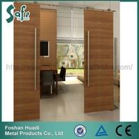 2015 New design stainless steel sliding door wooden door