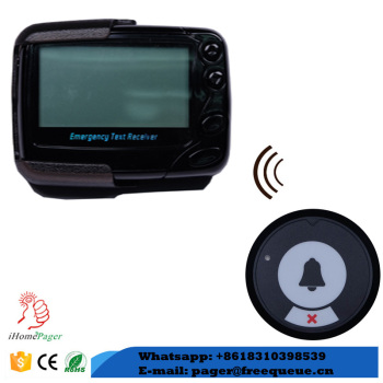 wireless nurse call system push button and text receiver for hospital