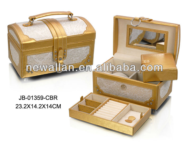 Jewelry box Jewelry case with High quality PU leather