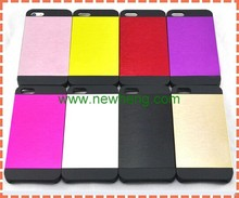 New Black Luxury Brushed Metal Aluminum Chrome Hard Case Cover For iPhone 5