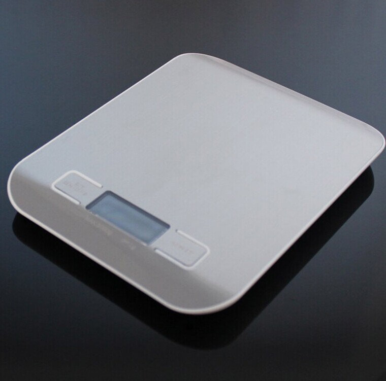 Square Shape Four-point Type 11LB Stainless Steel Digital Kitchen Food Scale