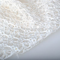 gold metal blended raschel knitting lace fabric