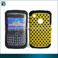 combo pc+silicone case for blackberry 9300 with net design