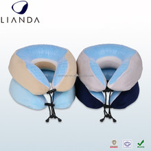 Ergonomic Prevent Neck Sore Gel Neck Pillow, Cooling Neck Travel Airplane Pillow, Gel Beads Cover Folding Neck Pillow