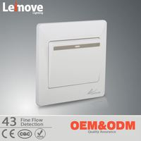 New Arrival Custom Design one gang two way wall switch with indicator light
