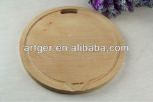 round Wooden chopping block With handle