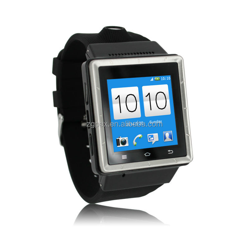 2014 new ZGPAX S6 smart android 3G watch phone with wifi/gps/google apps/bluetooth