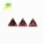 wholesale synthetic rhodolite Triangle Cut cz loose gemstone jewelry