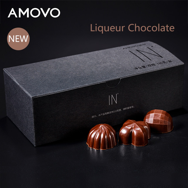 AMOVO pure cocoa butter handmade flavors candy liqueur chocolate