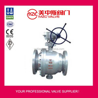 Cast Steel WCB Two Pieces Flanged Trunnion Ball Valve