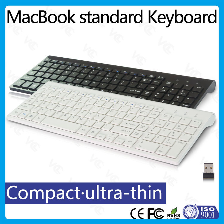 ultra slim computer keyboard wireless multimedia keyboard