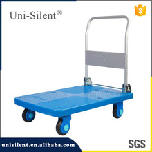 Folding Plastic Platform Hand Trolley with Super Silence Wheels PLA300-DX