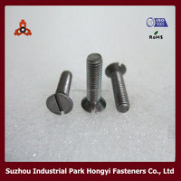 slotted countersunk screw slotted flat countersunk head machine screw countersunk tek screw